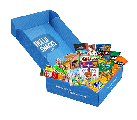 Hello Snacks Snack Box with Products